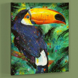 Toucan LIMITED EDITION Giclee on Canvas by Stephen Fishwick