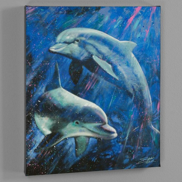 Life Aquatic LIMITED EDITION Giclee on Canvas by Stephen Fishwick