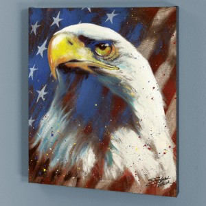 Formatted America LIMITED EDITION Giclee on Canvas by Stephen Fishwick