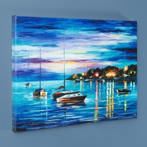 Out All Night LIMITED EDITION Giclee on Canvas by Leonid Afremov