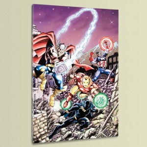 Avengers #21 LIMITED EDITION Giclee on Canvas by George Perez and Marvel Comics