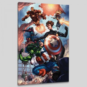 Avengers #84 LIMITED EDITION Giclee on Canvas by Scott Kolins and Marvel Comics