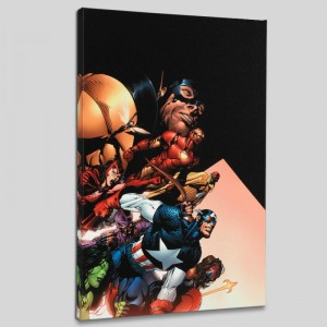 Avengers #500 LIMITED EDITION Giclee on Canvas by David Finch and Marvel Comics
