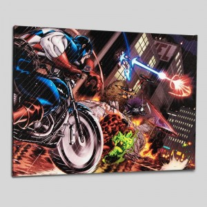 Avengers: X-Sanction #1 LIMITED EDITION Giclee on Canvas by Ed McGuinness and Marvel Comics