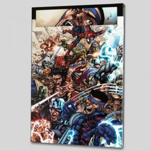 Avengers: The Initiative #19 LIMITED EDITION Giclee on Canvas by Harvey Tolibao and Marvel Comics