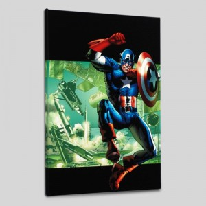 Captain America: Man Out Of Time #4 Limited Edition Giclee on Canvas by Bryan Hitch and Marvel Comics