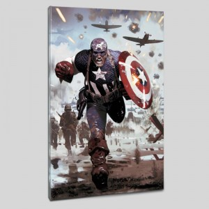Captain America #615 LIMITED EDITION Giclee on Canvas by Daniel Acuna and Marvel Comics