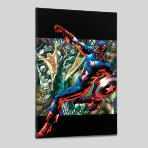 Captain America: Man Out of Time #5 Limited Edition Giclee on Canvas by Bryan Hitch and Marvel Comics