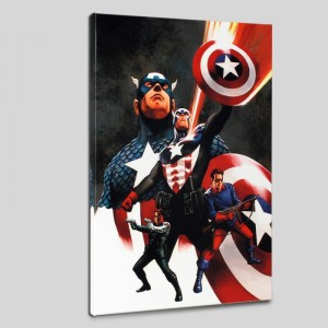 Captain America #600 Limited Edition Giclee on Canvas by Steve Epting and Marvel Comics! Numbered with Certificate of Authenticity! Gallery Wrapped and Ready to Hang!
