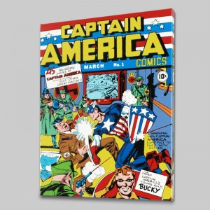 Captain America Comics #1 LIMITED EDITION Giclee on Canvas by Jack Kirby (1917-1994) and Marvel Comics