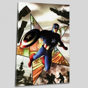 Captain America #1 Limited Edition Giclee on Canvas by Steve McNiven and Marvel Comics