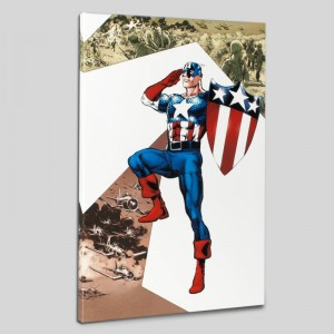 Captain America Corps #2 Limited Edition Giclee on Canvas by Phil Jimenez and Marvel Comics