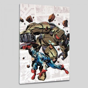 Captain America: The 1940s Newspaper Strip #2 LIMITED EDITION Giclee on Canvas by Butch Guice and Marvel Comics