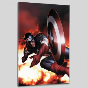 Captain America #2 Limited Edition Giclee on Canvas by Steve McNiven and Marvel Comics