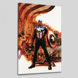 Captain America #41 LIMITED EDITION Giclee on Canvas by Steve Epting and Marvel Comics