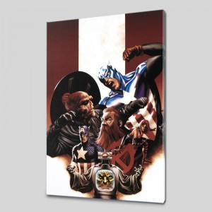 Captain America #42 Limited Edition Giclee on Canvas by Steve Epting and Marvel Comics