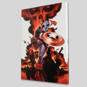 Captain America #1 LIMITED EDITION Giclee on Canvas by Steve Epting and Marvel Comics