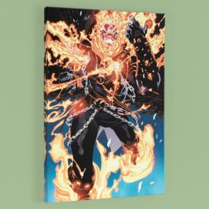 Ghost Rider #28 LIMITED EDITION Giclee on Canvas by Tan Eng Huat and Marvel Comics