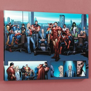 House of M MGC #1 Limited Edition Giclee on Canvas by Oliver Coipel and Marvel Comics! Numbered with Certificate of Authenticity! Gallery Wrapped and Ready to Hang!