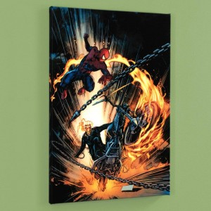 Amazing Spider-Man/Ghost Rider: Motorstorm #1 Limited Edition Giclee on Canvas by Roberto De La Torre and Marvel Comics