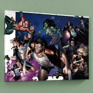 House of M #6 Limited Edition Giclee on Canvas by Oliver Coipel and Marvel Comics