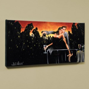 "City Lights & Love LIMITED EDITION Giclee on Canvas (48"" x 24"") by David Garibaldi"