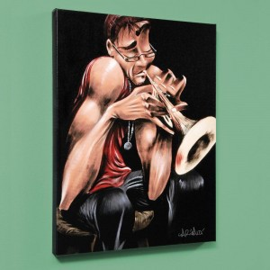 "Movin' Fingers LIMITED EDITION Giclee on Canvas (27"" x 36"") by David Garibaldi"