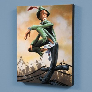 Peter Pan LIMITED EDITION Giclee on Canvas by David Garibaldi