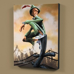 "Peter Pan LIMITED EDITION Giclee on Canvas (27"" x 36"") by David Garibaldi"