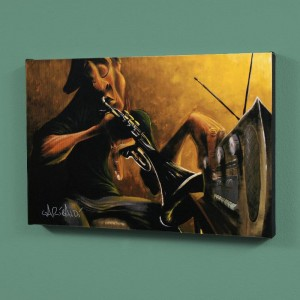 "Urban Tunes LIMITED EDITION Giclee on Canvas (36"" x 24"") by David Garibaldi"