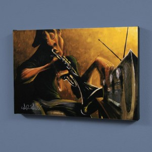 "Urban Tunes LIMITED EDITION Giclee on Canvas (60"" x 40"") by David Garibaldi"