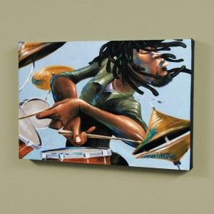 Dreads And Drums LIMITED EDITION Giclee on Canvas by David Garibaldi