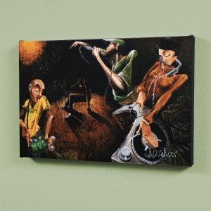The Get Down LIMITED EDITION Giclee on Canvas by David Garibaldi