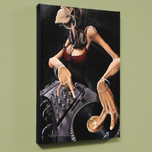 DJ Jewel LIMITED EDITION Giclee on Canvas by David Garibaldi