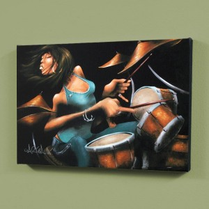 "Lola Beats LIMITED EDITION Giclee on Canvas (36"" x 24"") by David Garibaldi"