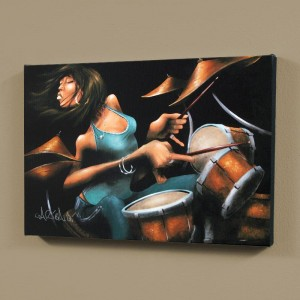 "Lola Beats LIMITED EDITION Giclee on Canvas (60"" x 40"") by David Garibaldi"