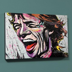 Mick Jagger LIMITED EDITION Giclee on Canvas by David Garibaldi