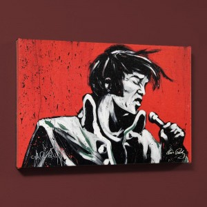 Elvis Presley (Revolution) LIMITED EDITION Giclee on Canvas by David Garibaldi