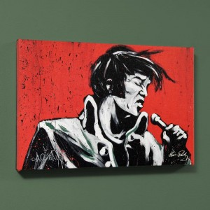 "Elvis Presley (Revolution) LIMITED EDITION Giclee on Canvas (40"" x 30"") by David Garibaldi"