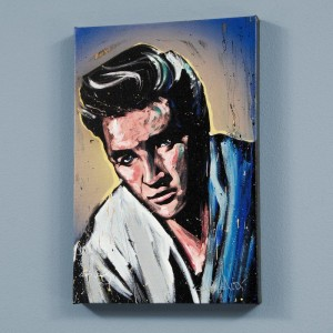 Elvis Presley (Blue Suede) LIMITED EDITION Giclee on Canvas by David Garibaldi