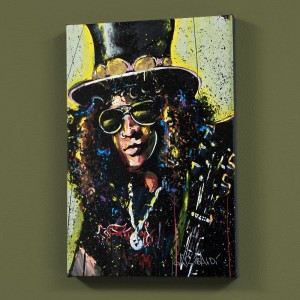 Slash LIMITED EDITION Giclee on Canvas by David Garibaldi