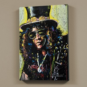 "Slash LIMITED EDITION Giclee on Canvas (48"" x 60"") by David Garibaldi"