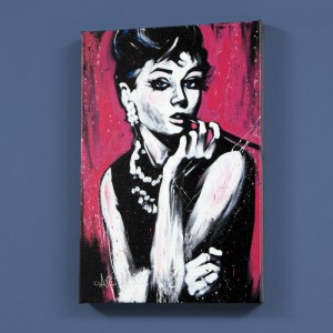 Audrey Hepburn (Fabulous) LIMITED EDITION Giclee on Canvas by David Garibaldi