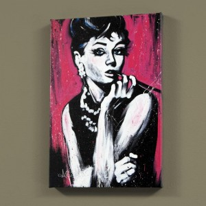 "Audrey Hepburn (Fabulous) LIMITED EDITION Giclee on Canvas (30 x 40"") by David Garibaldi"
