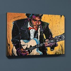 "Chuck Berry (Chuck) LIMITED EDITION Giclee on Canvas (40"" x 30"") by David Garibaldi"