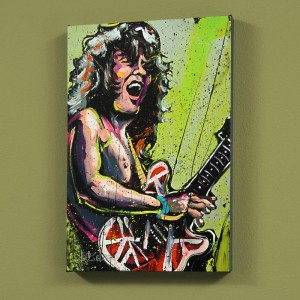 Eddie Van Halen (Eddie) LIMITED EDITION Giclee on Canvas by David Garibaldi