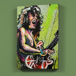 "Eddie Van Halen (Eddie) LIMITED EDITION Giclee on Canvas (30"" x 40"") by David Garibaldi"