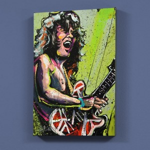 "Eddie Van Halen (Eddie) LIMITED EDITION Giclee on Canvas (48"" x 60"") by David Garibaldi"