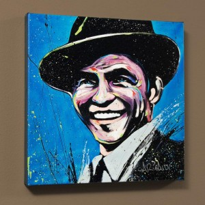 Frank Sinatra (Blue Eyes) LIMITED EDITION Giclee on Canvas by David Garibaldi