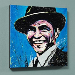"Frank Sinatra (Blue Eyes) LIMITED EDITION Giclee on Canvas (36"" x 36"") by David Garibaldi"